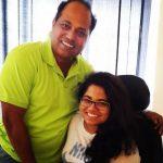 Sanjay Jadhav and his daughter Dhriti Jadhav