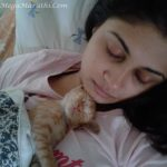Ruchi Savarn With Cat